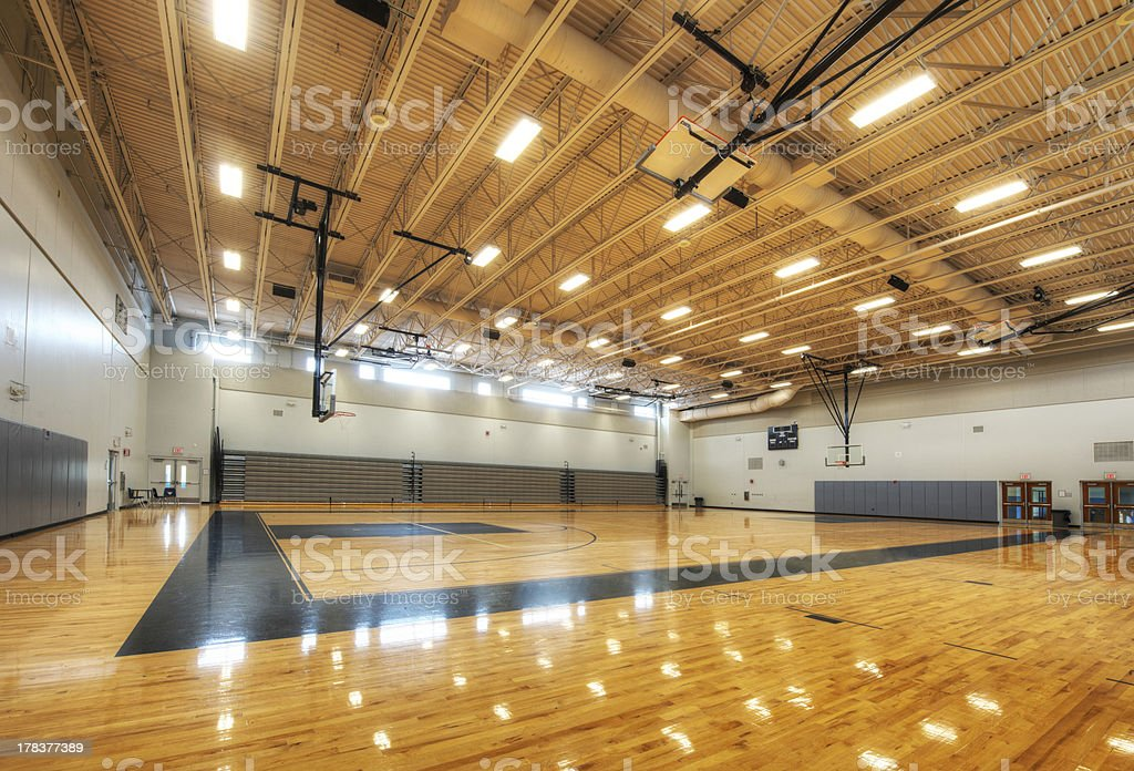 Gymnasium at Middle School stock photo
