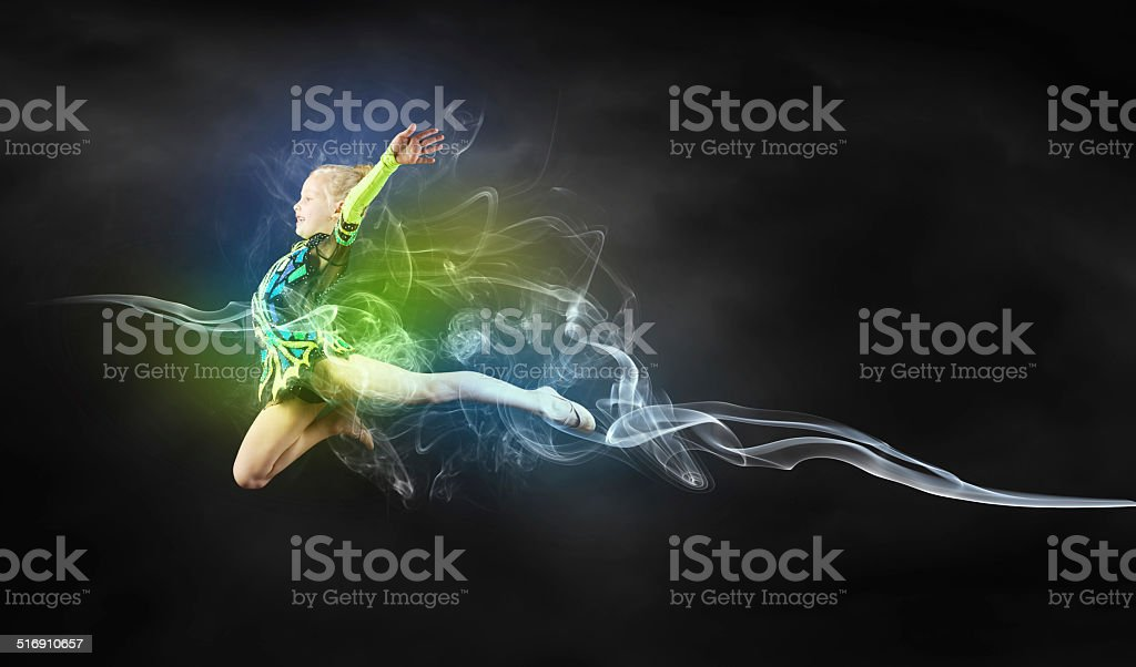 Gymnast girl stock photo