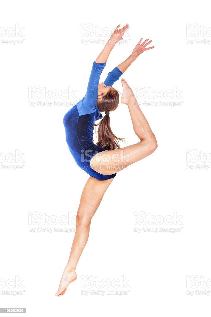 gymnast jump stock photo