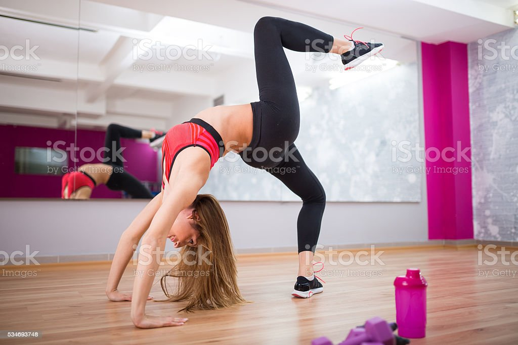 Gymnastic stock photo