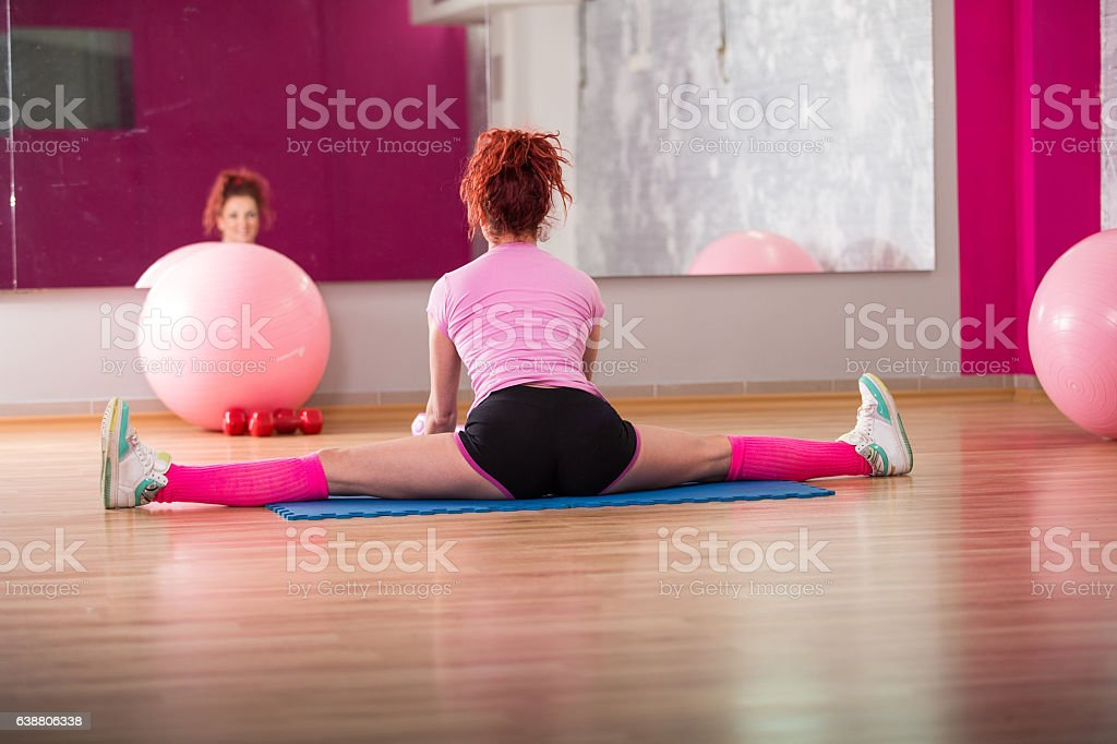 Gymnastic string stock photo