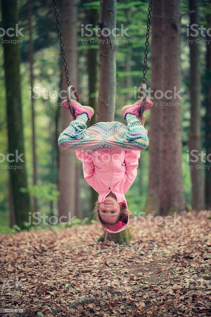 gymnastic young girl stock photo