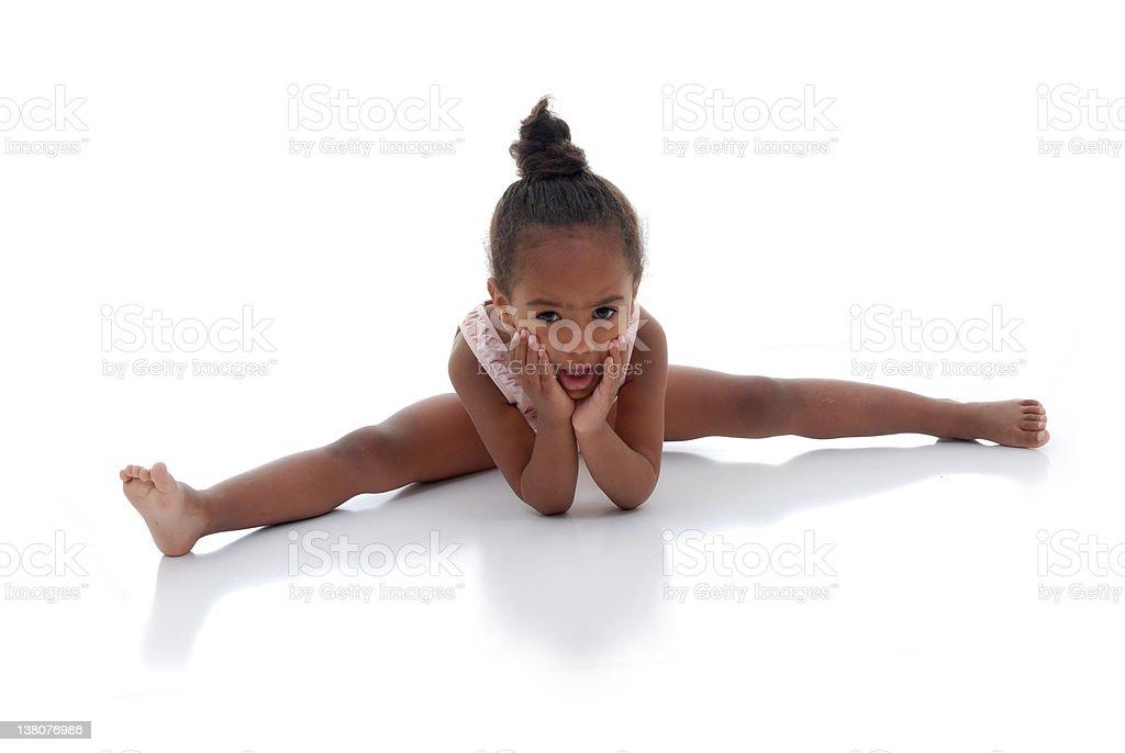 Gymnastics and tumbling royalty-free stock photo