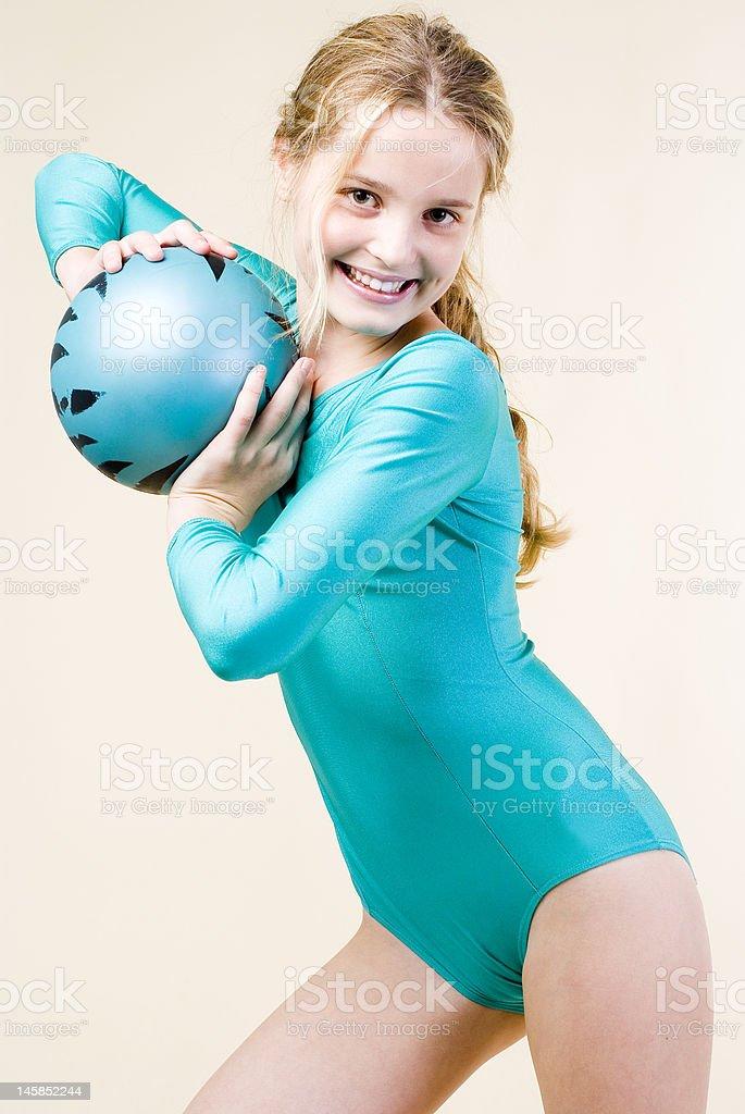 gymnastics ball royalty-free stock photo