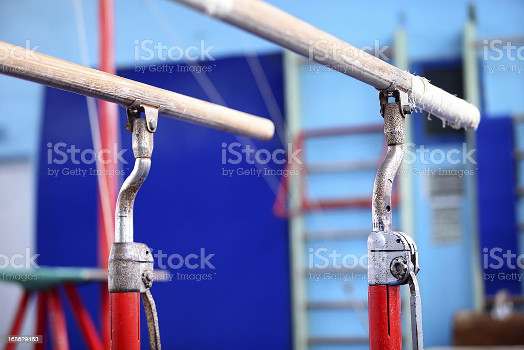 Gymnastics bars stock photo