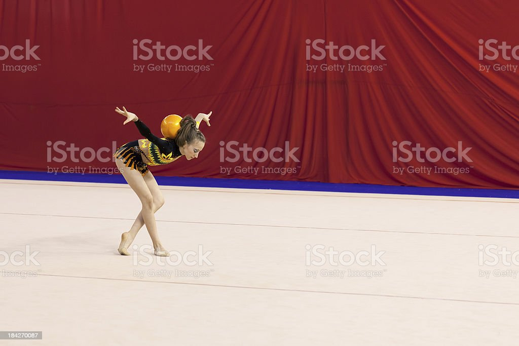Gymnastics Girl stock photo