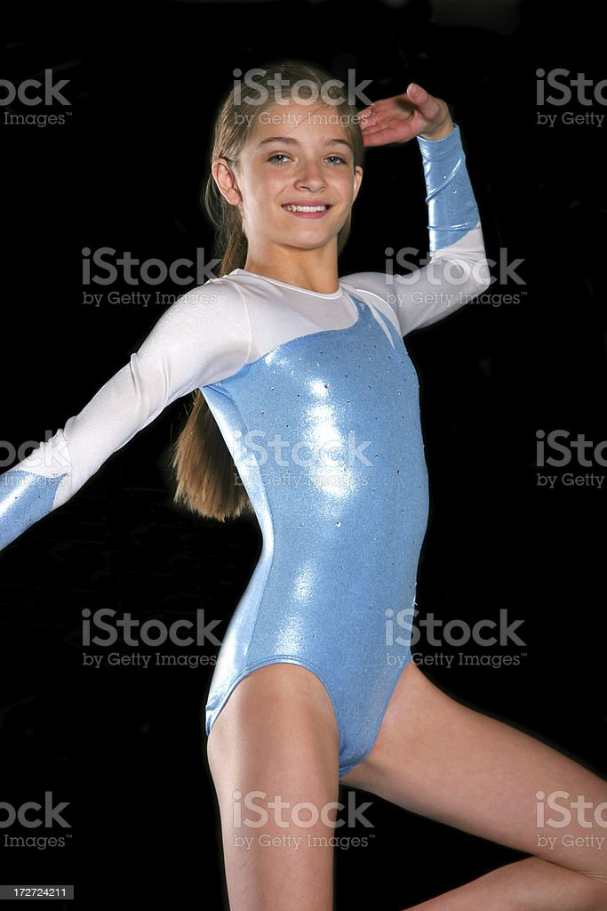 Gymnastics Girl Pose stock photo