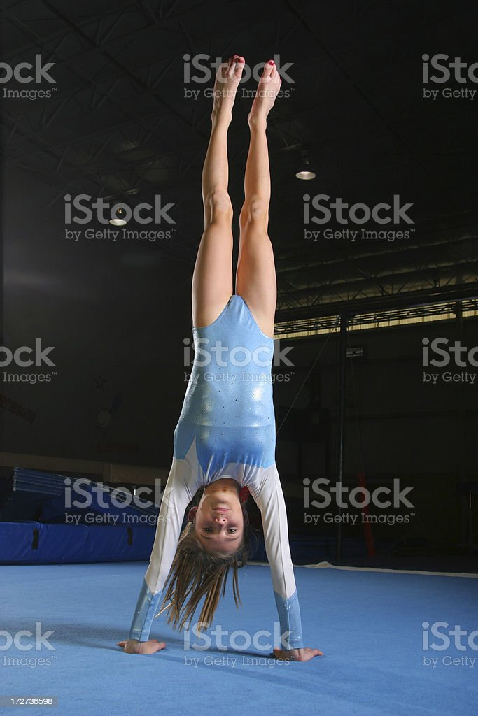 Gymnastics Handstand stock photo