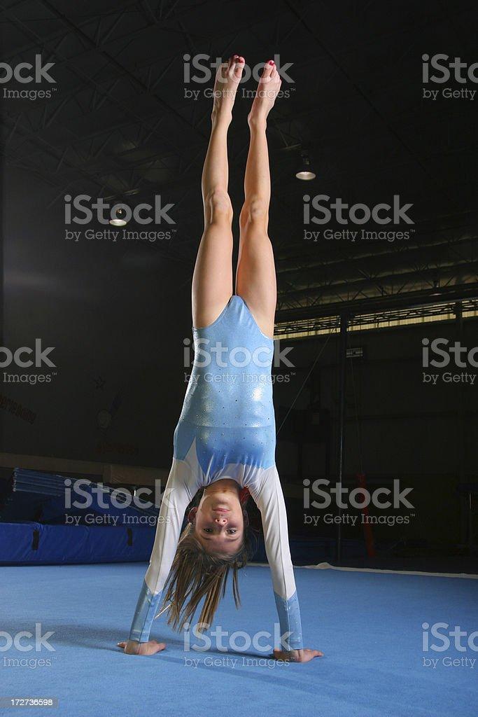 Gymnastics Handstand stock photo
