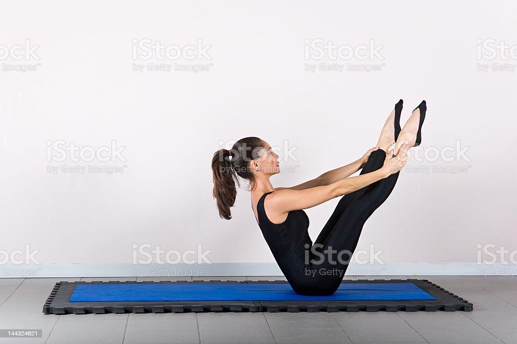 Gymnastics pilates royalty-free stock photo