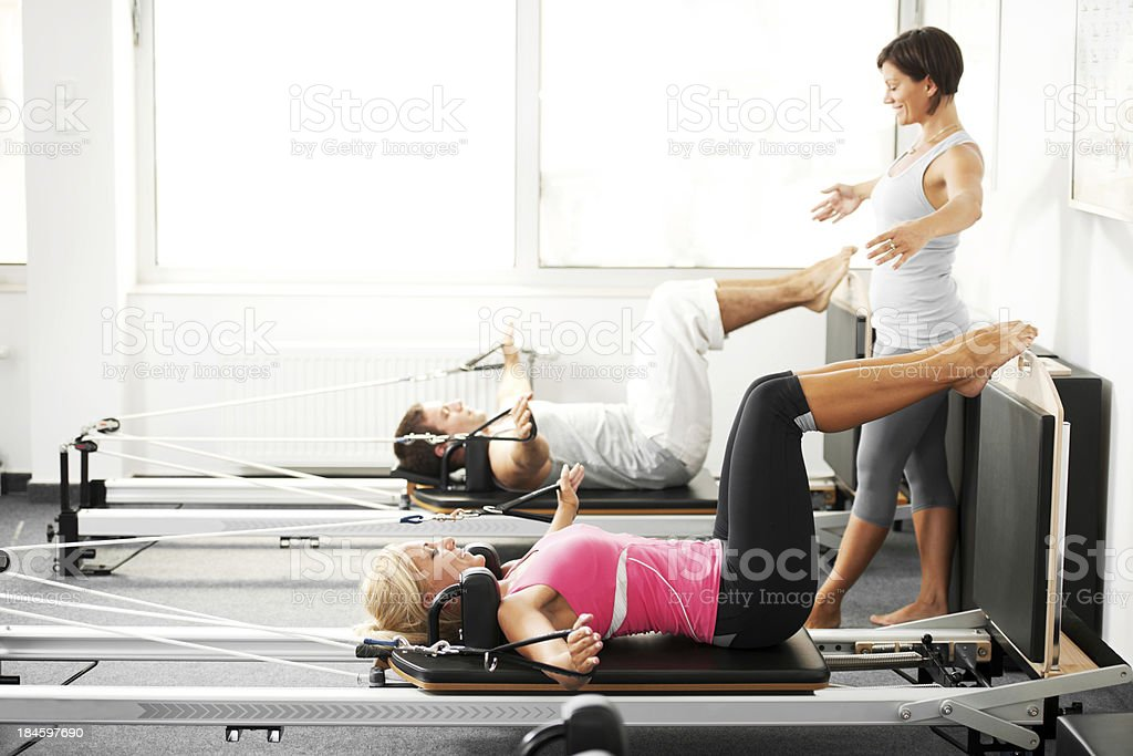 Gymnastics Pilates. royalty-free stock photo