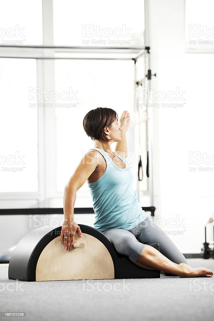 Gymnastics Pilates. stock photo