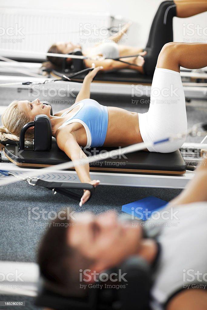 Gymnastics Pilates. royalty-free stock photo