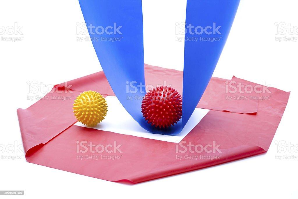 Gymnastics tape and sting ball royalty-free stock photo