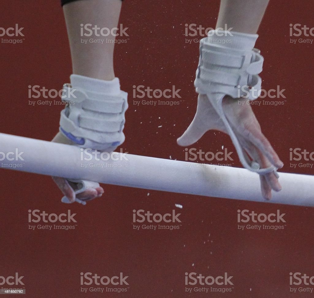 Gymnasts Hands stock photo