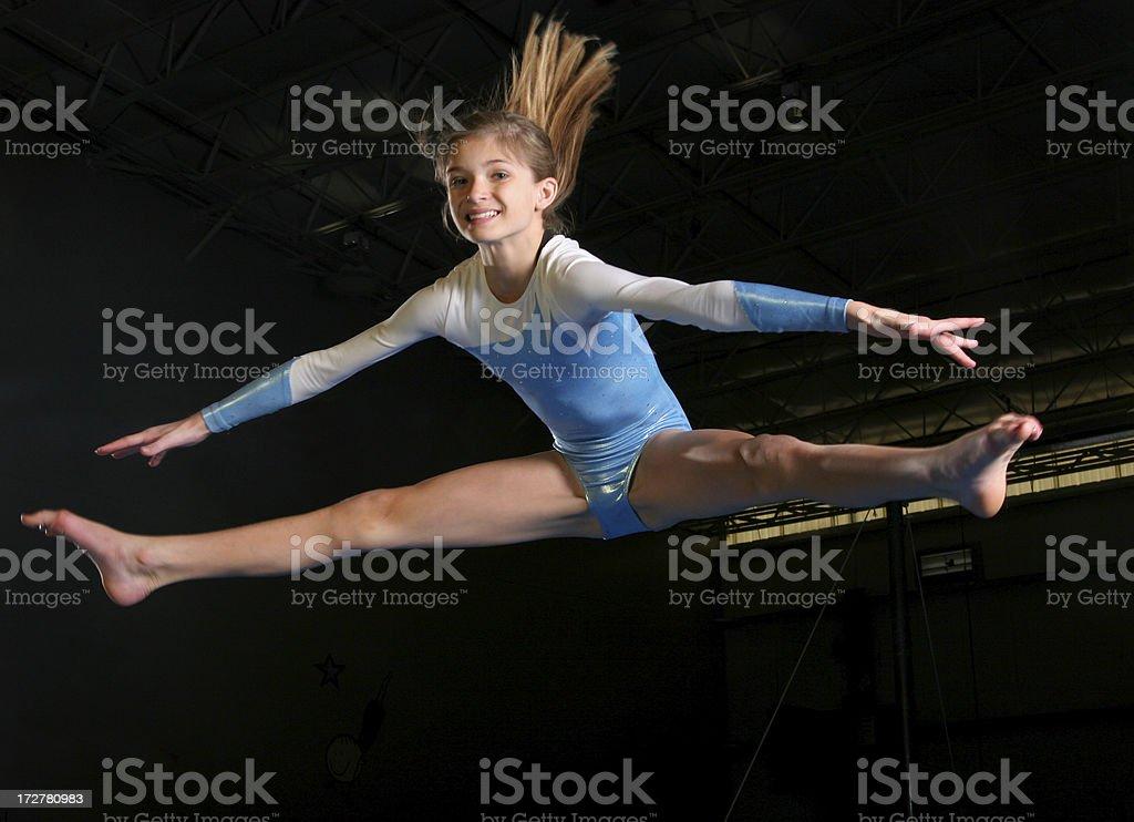 Gymnsatics Jump stock photo