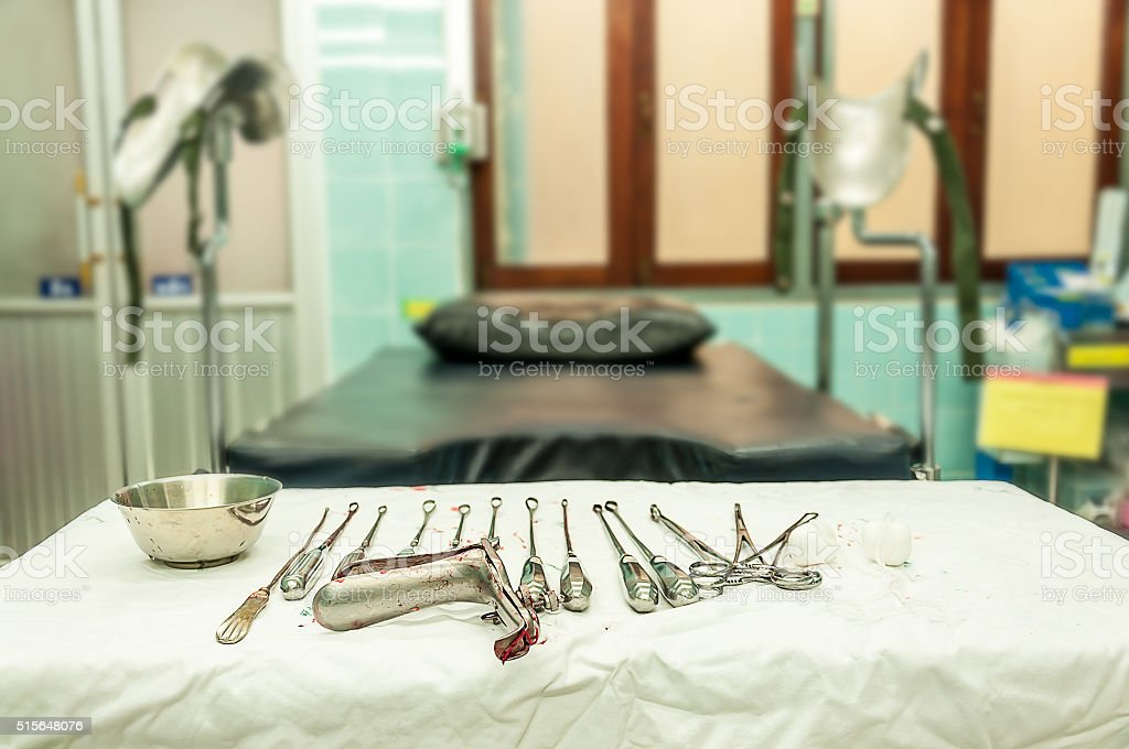 gynecological equipment use for treatment gynecological disease stock photo