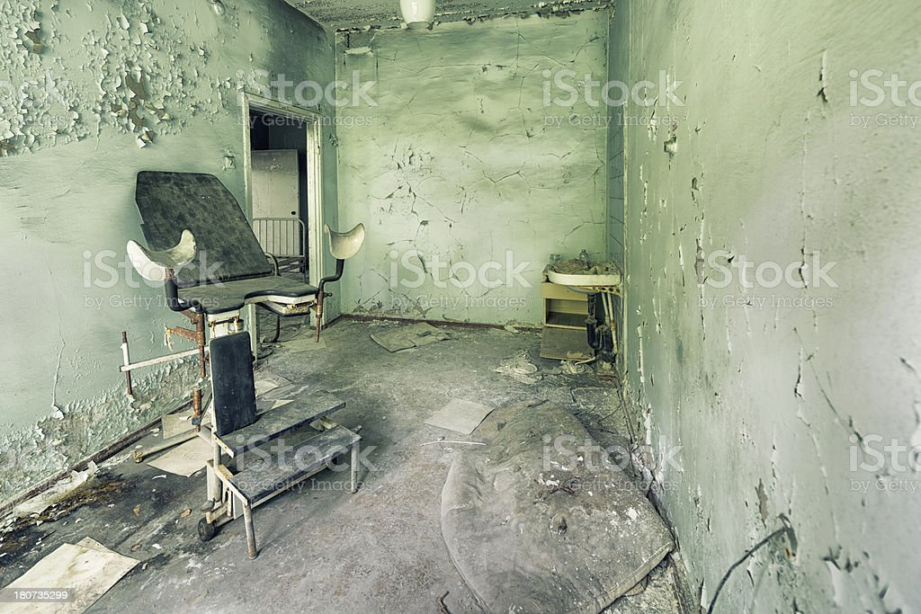 Gynecological Examination Room of Ghost Hospital royalty-free stock photo