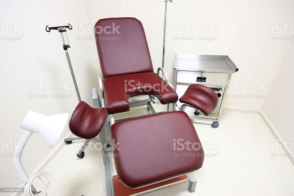 Gynecologist practice stock photo
