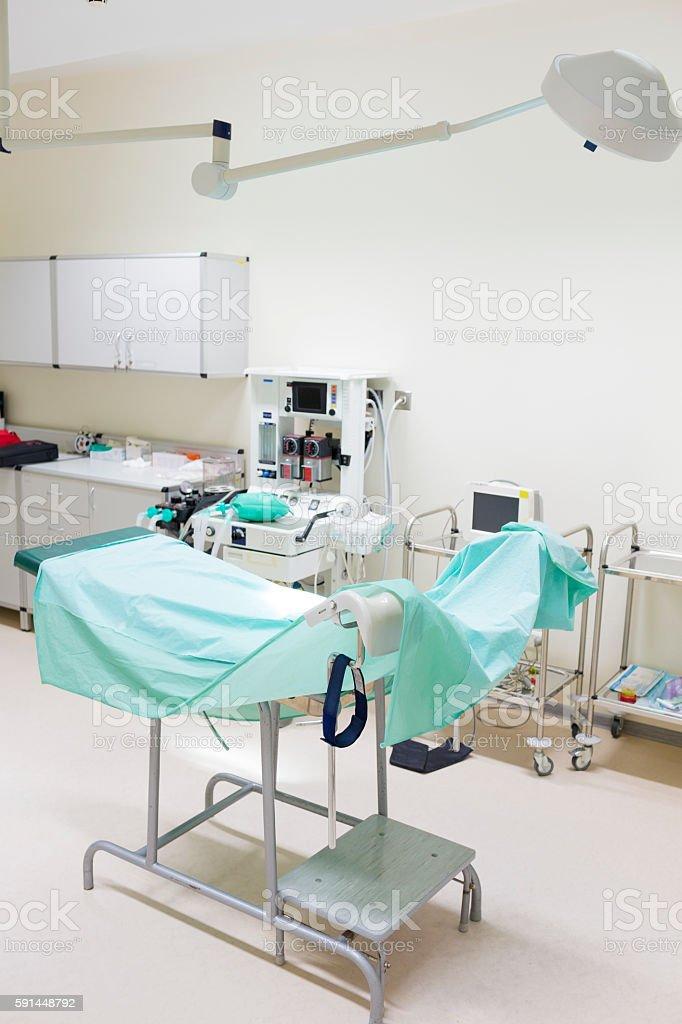 Gynecologists room stock photo