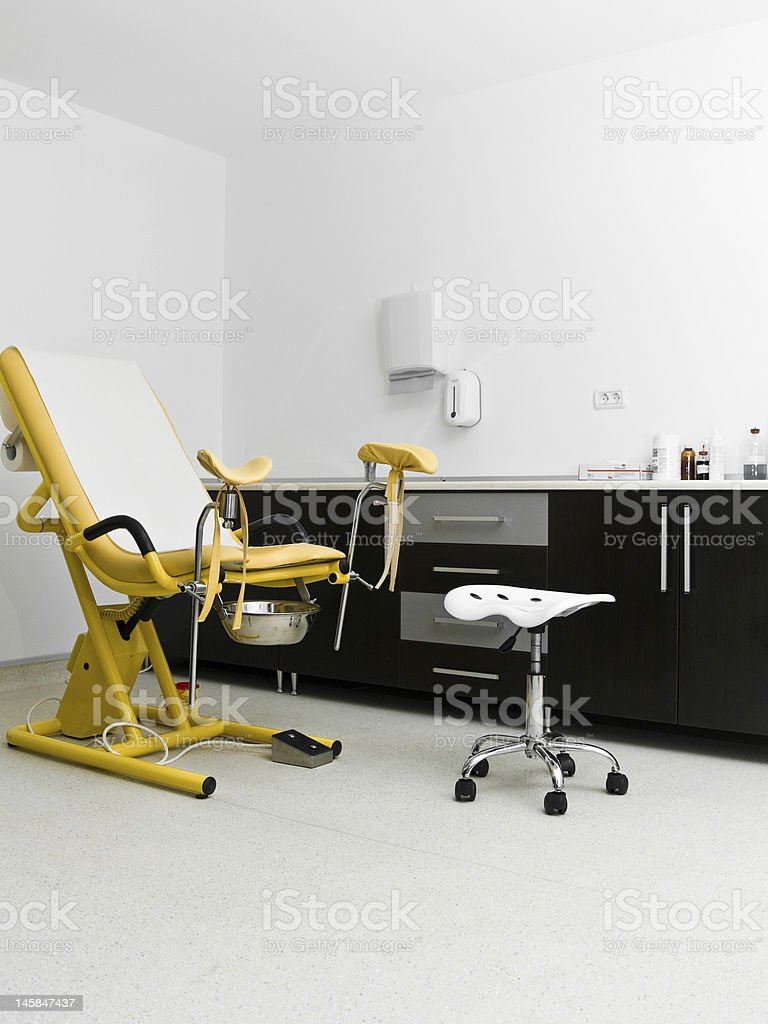 gynecology chair stock photo
