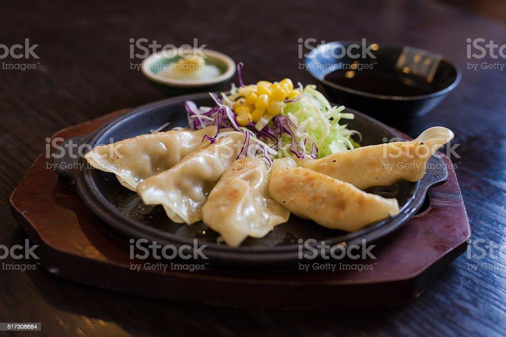 Gyoza Japanese food stock photo