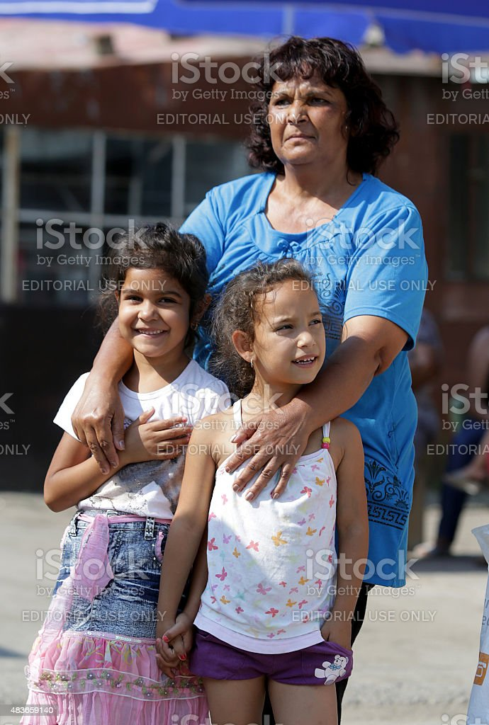 Gypsies children stock photo