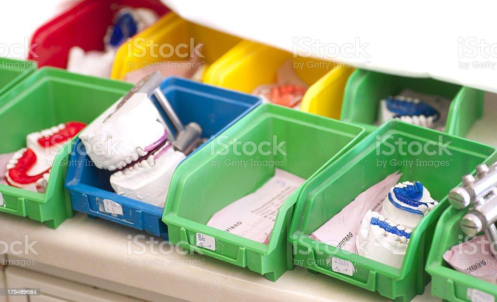 gypsum braces at kfo stock photo
