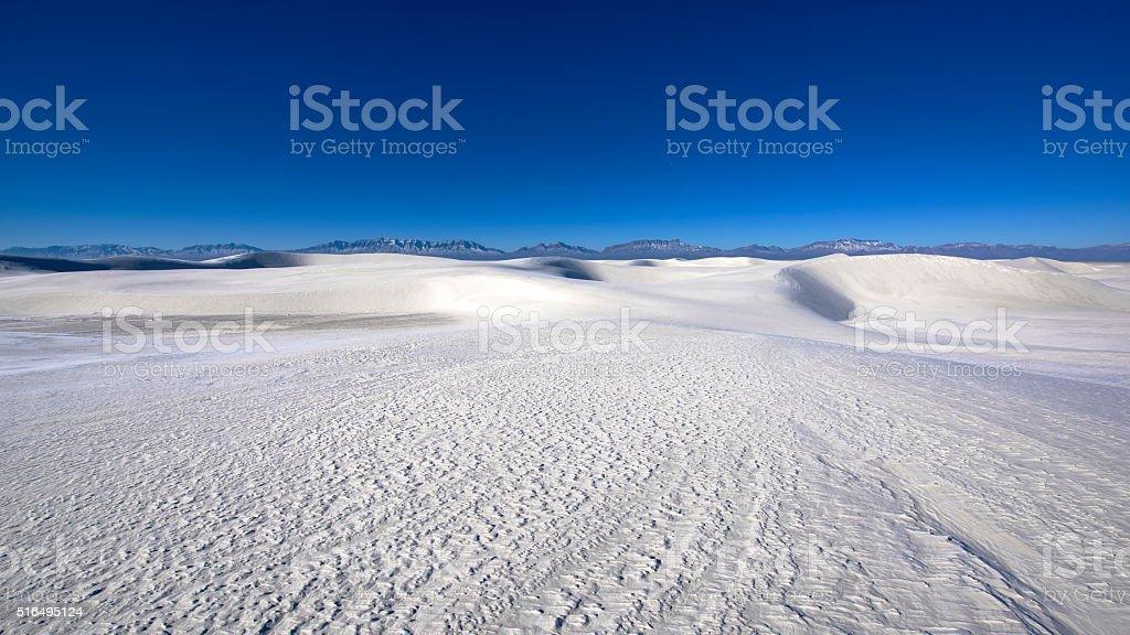 Gypsum dune stock photo