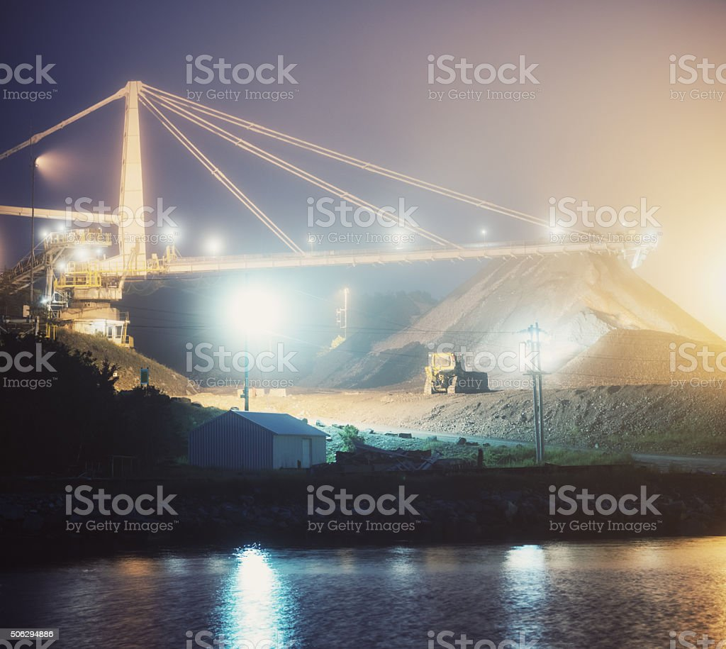 Gypsum Mining Facility stock photo