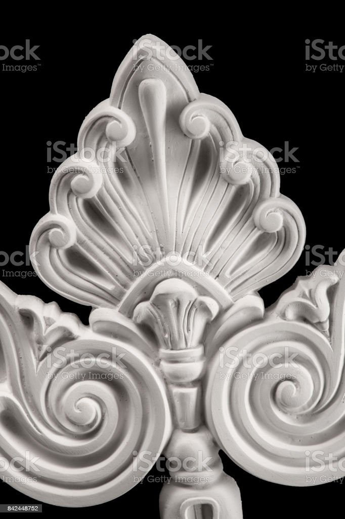 gypsum products, stucco weave, pattern, ornament on a black background stock photo