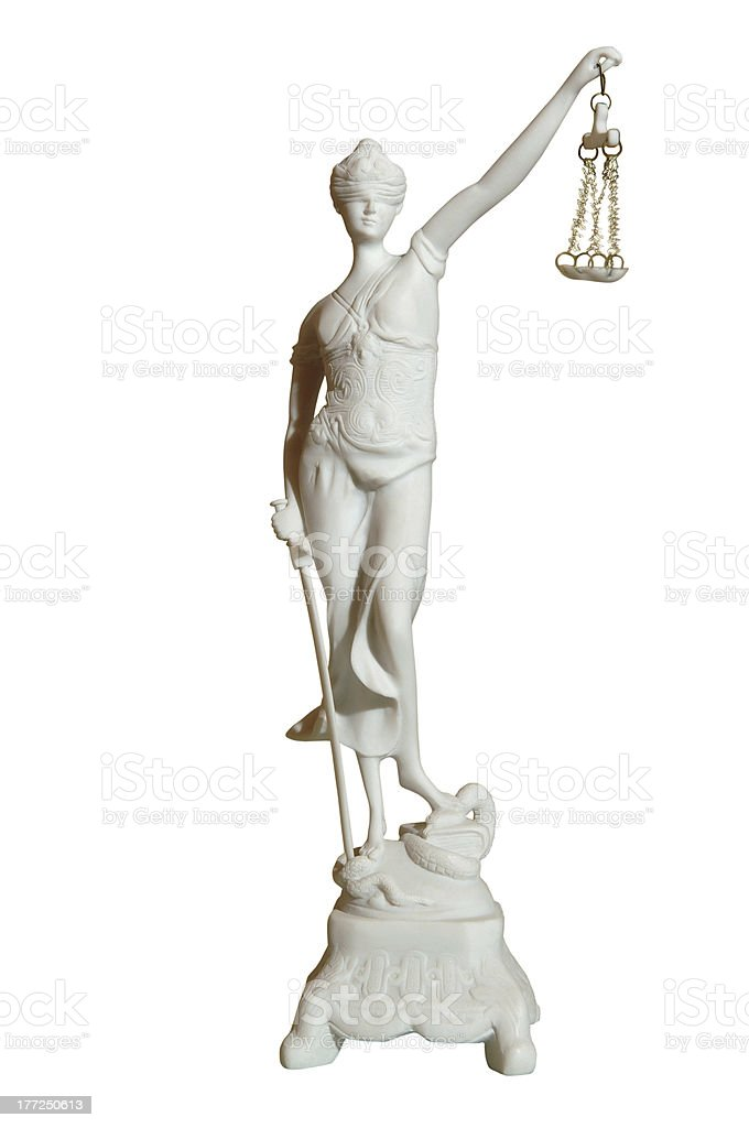gypsum statue of a woman royalty-free stock photo