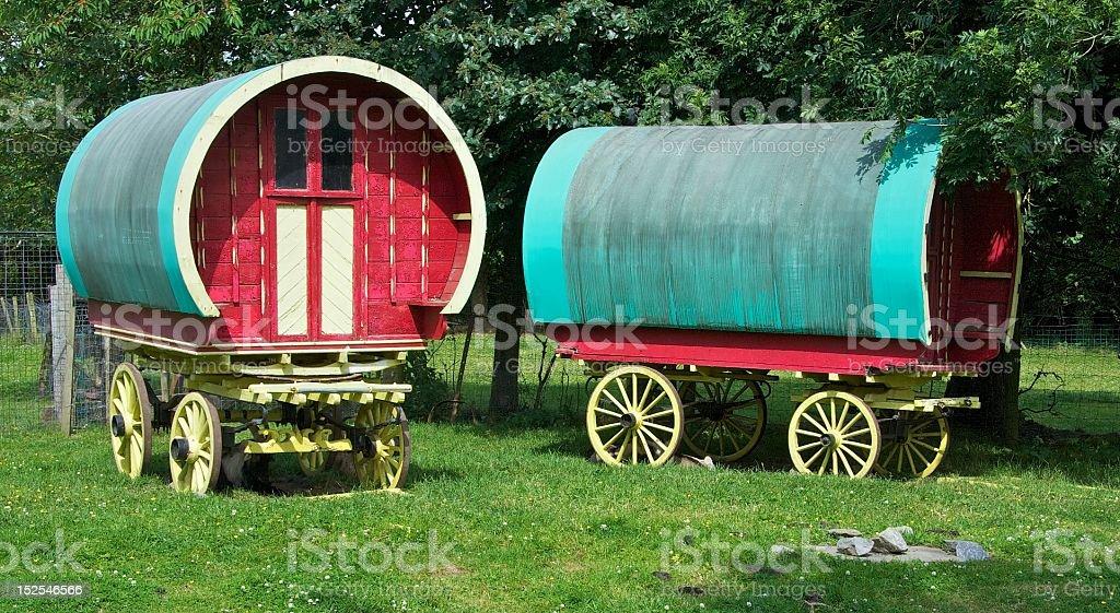 Gypsy Caravans stock photo
