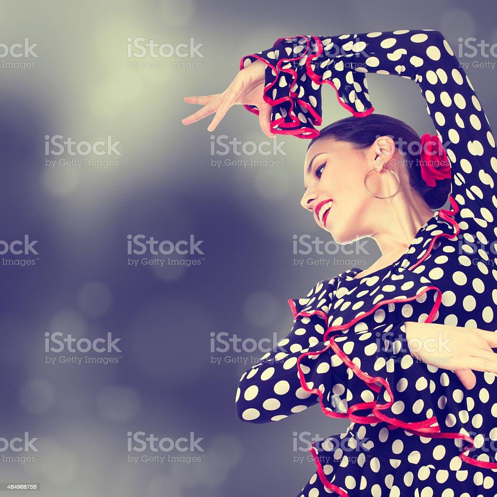 Gypsy dancer stock photo