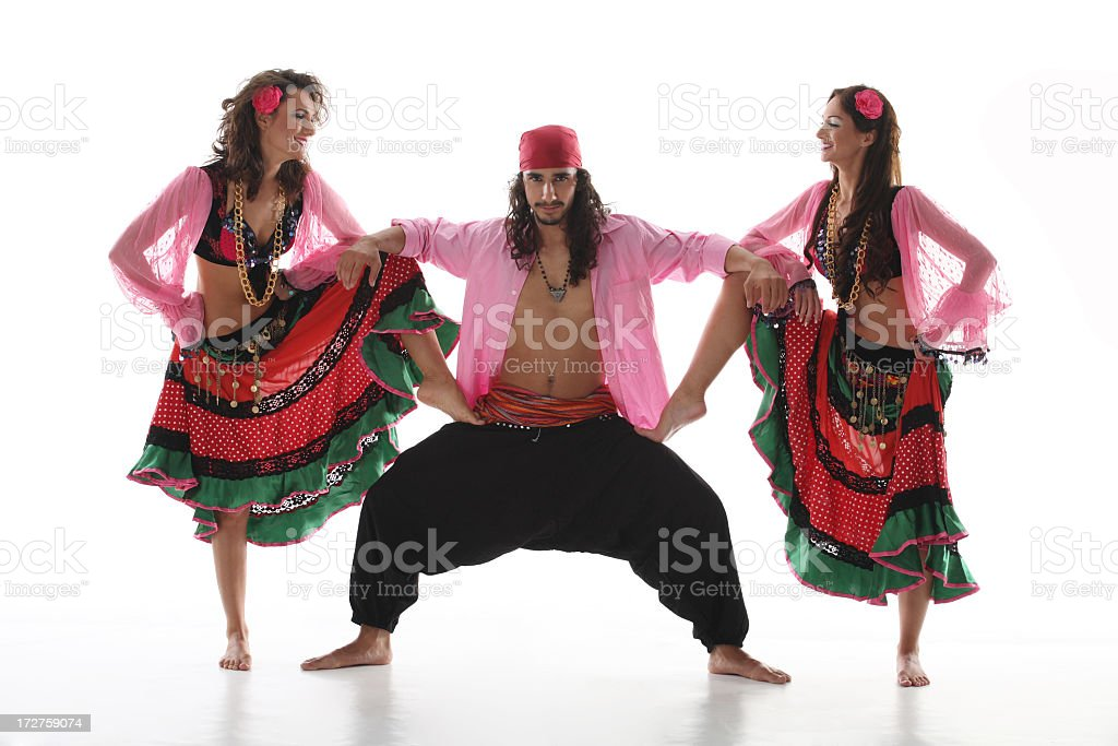 Gypsy Dancers royalty-free stock photo