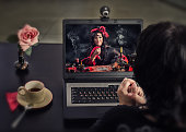 Gypsy doing deadly curse ritual for online client