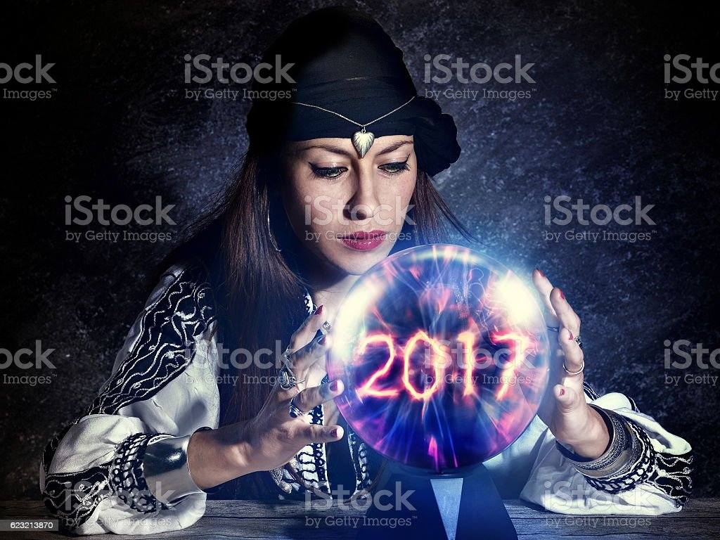gypsy fortune teller forecast stock photo