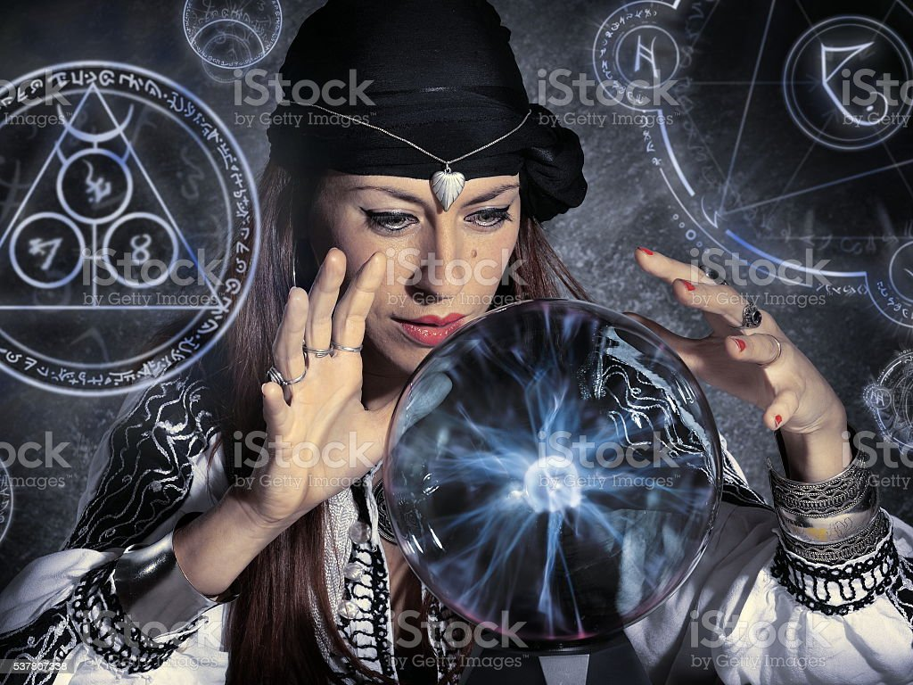 gypsy fortune teller stock photo