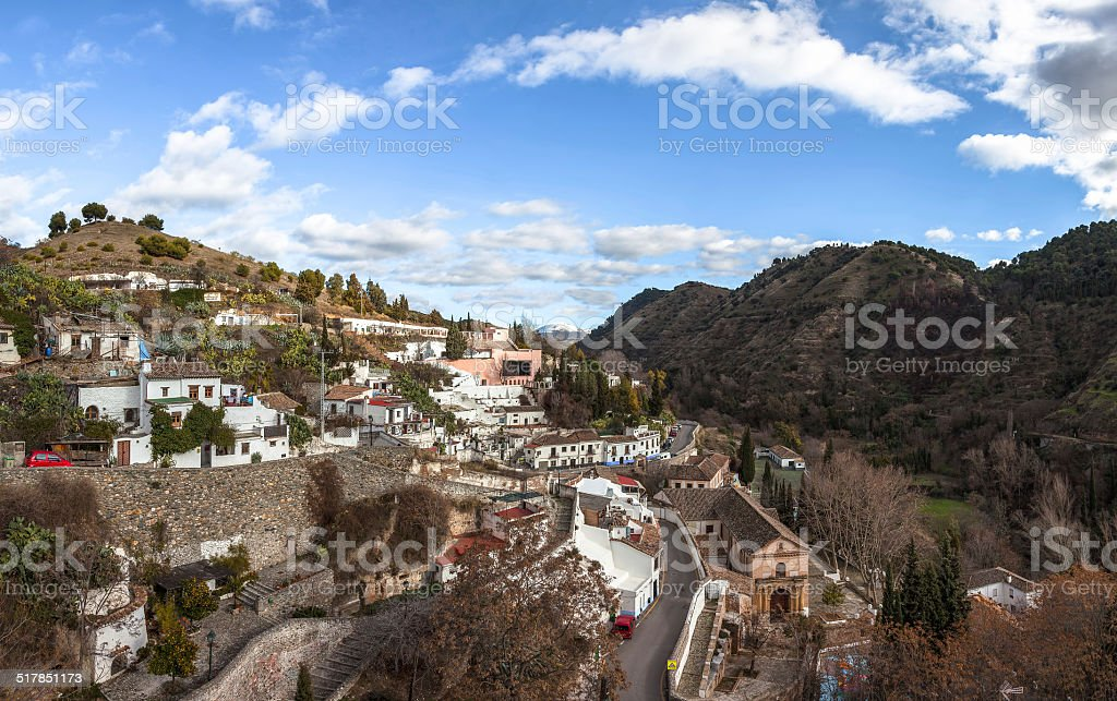 Gypsy Hill (Sacromonte), Granada stock photo