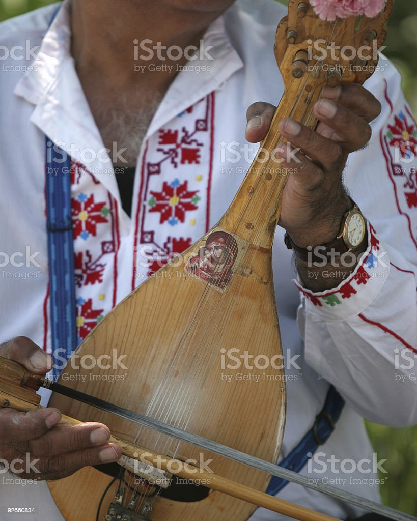 Gypsy musician royalty-free stock photo