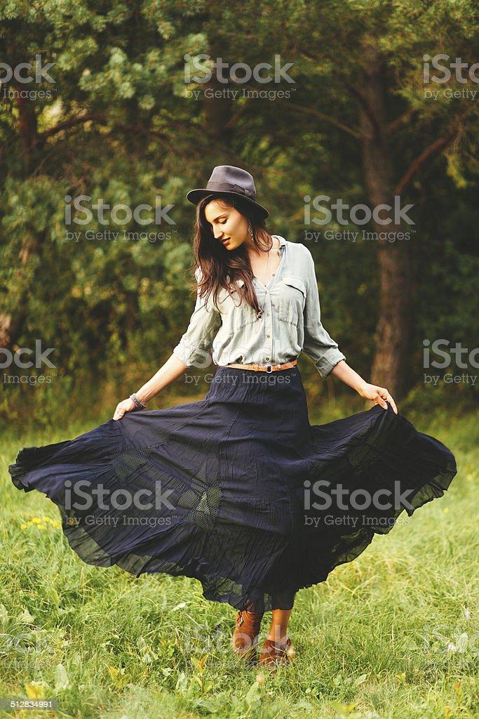 gypsy summer fashion stock photo