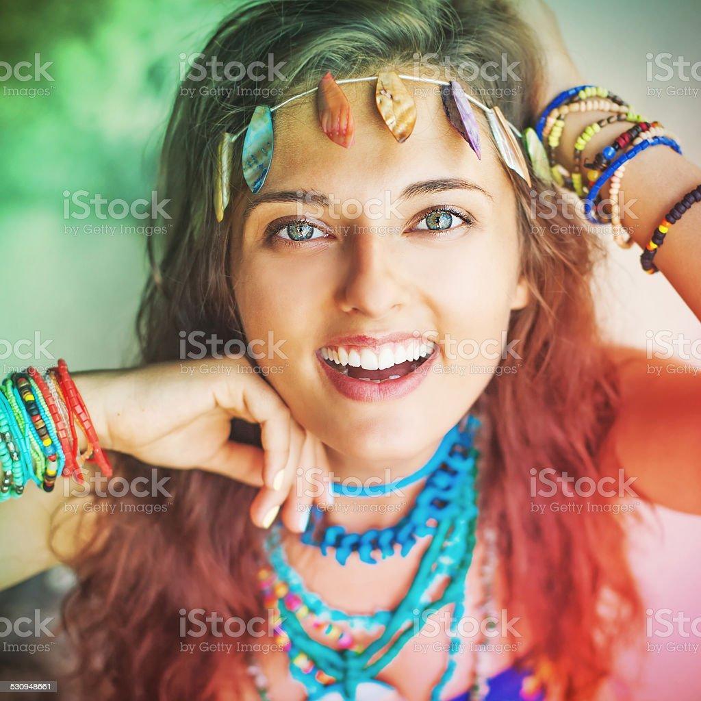 Gypsy woman stock photo