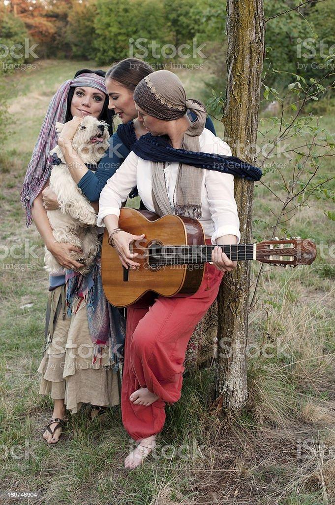 Gypsy Women royalty-free stock photo