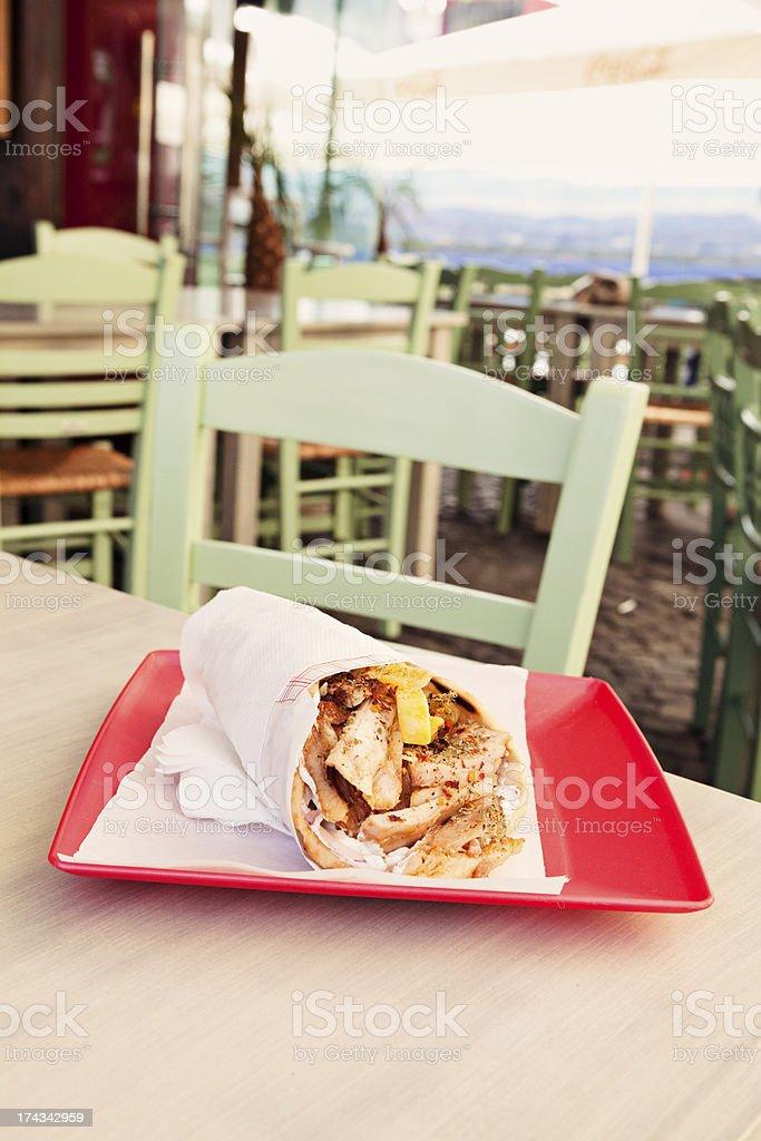 Gyro or Kebab royalty-free stock photo