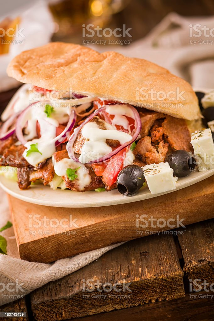 Gyro royalty-free stock photo