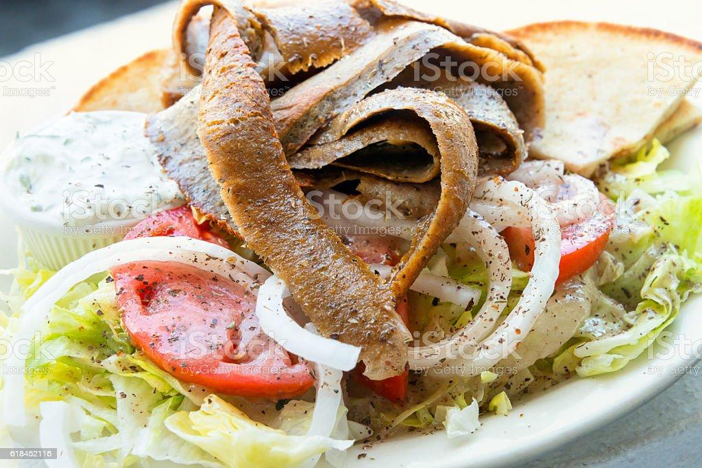 Gyro Salad stock photo
