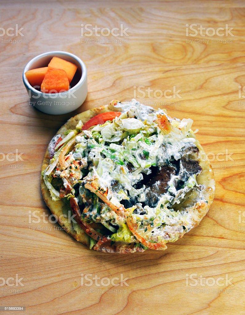 Gyros Pita Greek Sandwich royalty-free stock photo