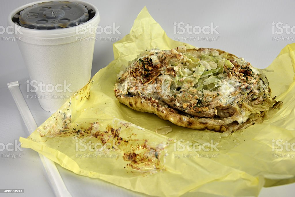 Gyros Sandwich With Soda royalty-free stock photo