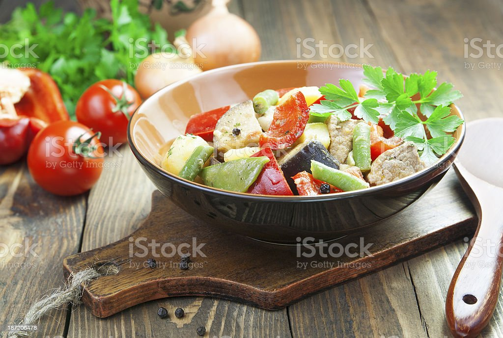Gyuvech, the Bulgarian national dish royalty-free stock photo