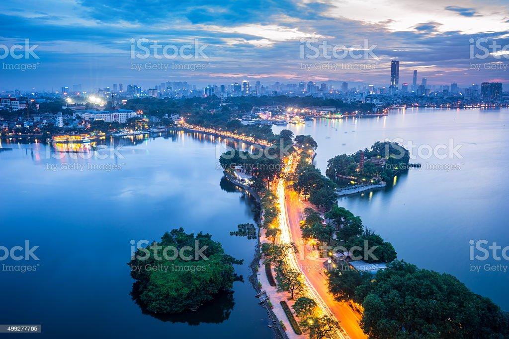 Ha Noi Cityscape stock photo
